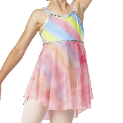 Dance Leotard Rainbow Camisole w/ Skirt
