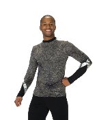 Mens Charcoal Figure Skating Top - 829