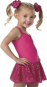 Mini Dot Skirted Dance Leotard