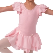 Flutter Sleeve Leotard w/ Attached Skirt