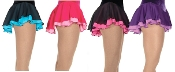 Double Ruffle Georgette Figure Skating Skirts