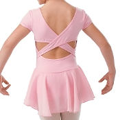 Childrens Short Sleeve Skirted Dance Leotard