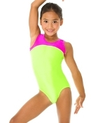 Mondor 7835 Pink & Green Girls Gymnastics Leotard