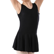 Ladies Sleeveless Tank Skirted Dance Leotard