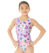 Mondor 7822 Pink Hearts Girls Gymnastics Leotard