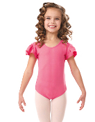 Ladies Nylon Flutter Sleeve Dance Leotard