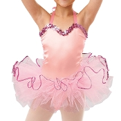 Childrens Satin Dance Leotard and Tutu Set