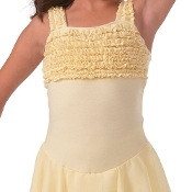 Girls Ruffle Trim Skirted Dance Leotard