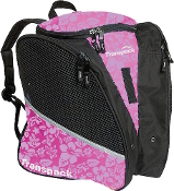 Transpack Pink Floral Figure Skate Bag