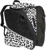 Transpack White Leopard Figure Skate Bag