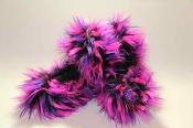 Fuzzy Soakers Crazy Fur - Black, Purple & Hot Pink
