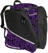 Transpack Purple/Black Zebra Figure Skate Bag