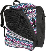 Transpack White/Pink/Aqua Aztec Figure Skate Bag