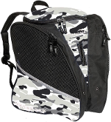 Transpack White Camo Figure Skate Bag