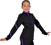 ChloeNoel J76PF Color Piping Fleece Figure Skating Jacket