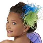 Ostrich Feather Hair Clips