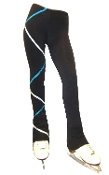 Ice Fire Fleece Figure Skating Pants - Criss Cross