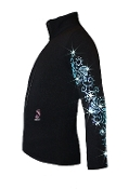 Ice Fire Fleece Figure Skating Jacket - Swirls