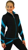 ChloeNoel J636F Spiral Lt. Fleece Skating Jacket