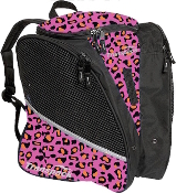 Transpack Pink Orange Leopard Figure Skate Bag