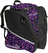 Transpack Pink/Purple Leopard Figure Skate Bag