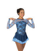 Jerry's 117 Lake of Lace Figure Skating Dress