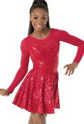 Sequin Sheer Holiday Skating/Dance Dress - Clearance!