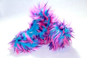 Fuzzy Soakers Crazy Fur - Turquoise, Purple & Pink