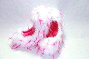 Fuzzy Soakers Crazy Fur - White & Pink
