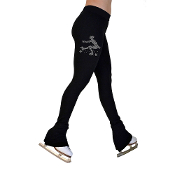 "ChloeNoel P622F 3"" Waist Fleece Figure Skating Pants w/ Crystal"