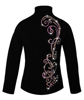 Ice Fire Fleece Figure Skating Jacket - Fancy Swirls