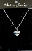 Sterling Silver Love Dancing Pendant Necklace